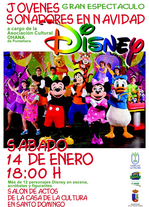 Espectáculo Disney Villa de Garafía 2012