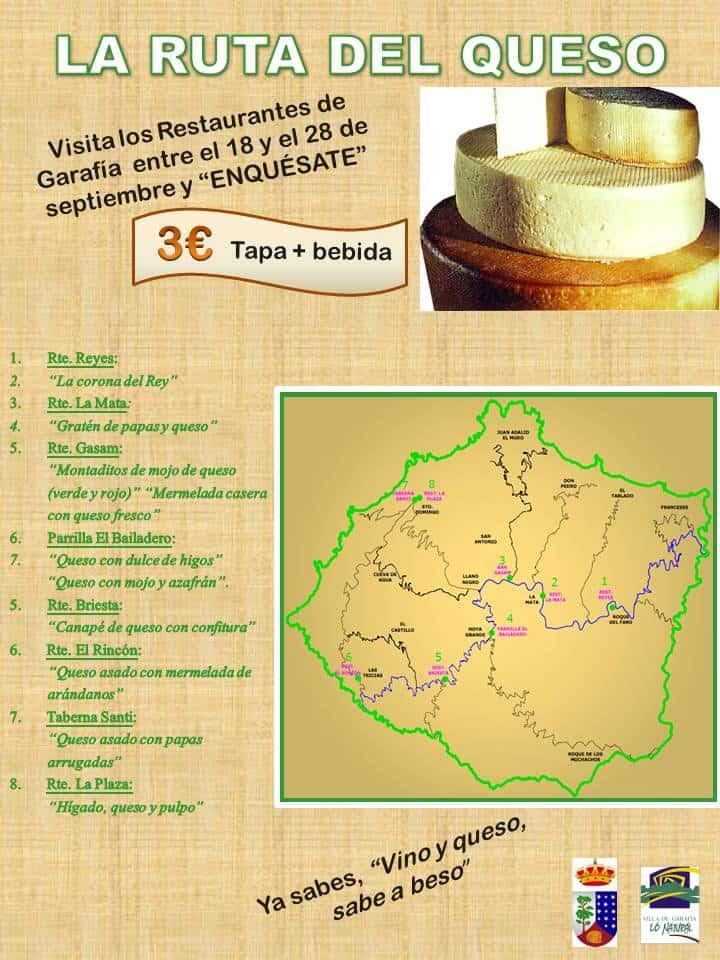 Ruta del queso en los restaurantes del municipio