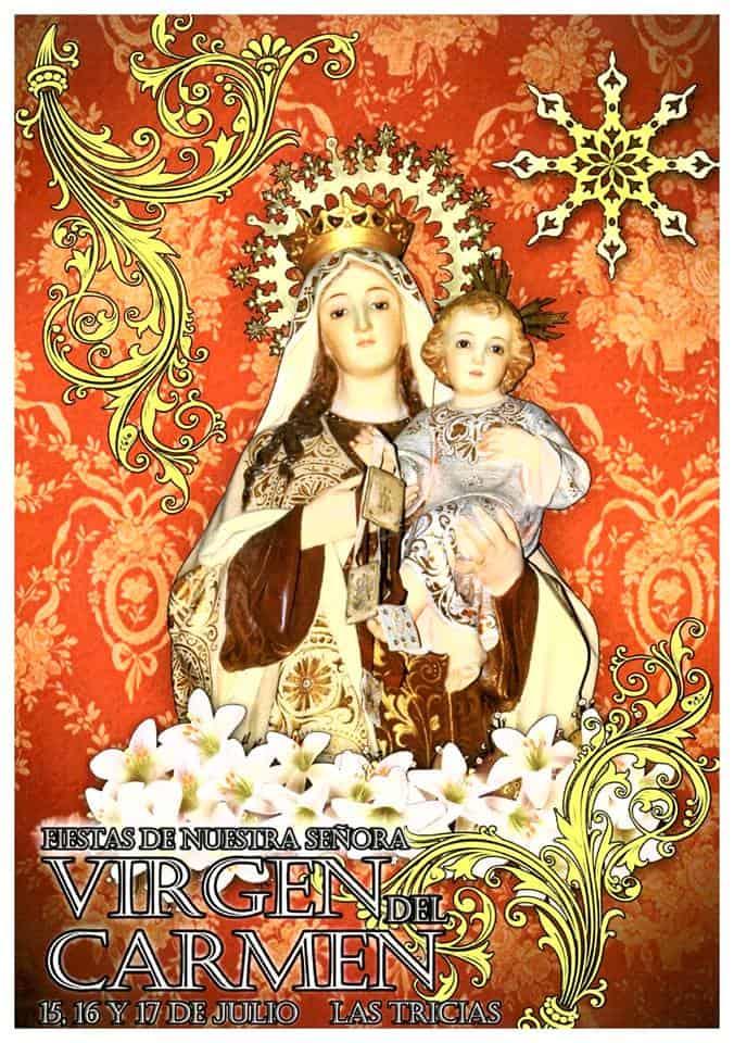 Fiestas de nuestra señora Virgen del Carmen. Las Tricias