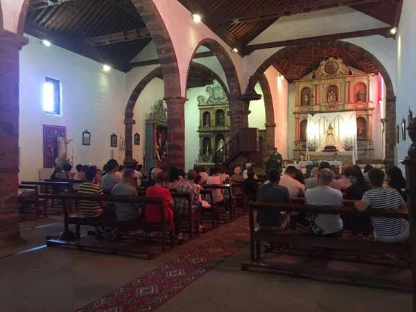 Imagen de la última misa ofrecida por Ruben Gallego en La Parroquia de Nuestra Señora de La Luz