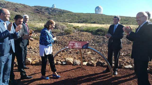 Garafía ha recibido 50.000 euros por la licencia de la obra de cimentación del primer telescopio de la Red Cherenkov