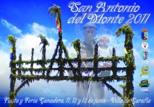 Cartel Fiestas San Antonio del Monte 2011