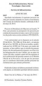 Publicacion BOP 22 mayo 2015