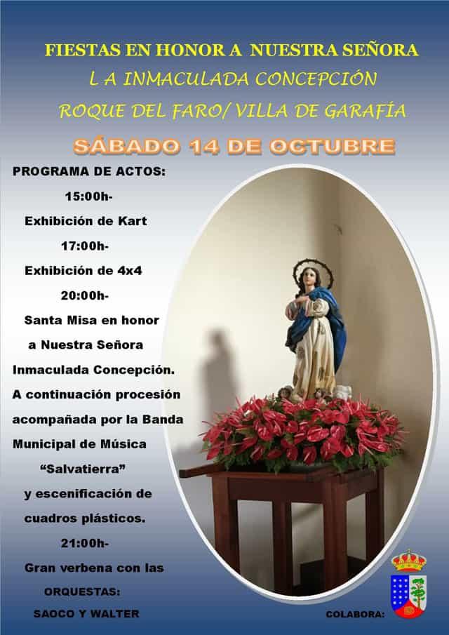 Fiestas Ntra. Sra. Inmaculada Concepción | 14 de octubre