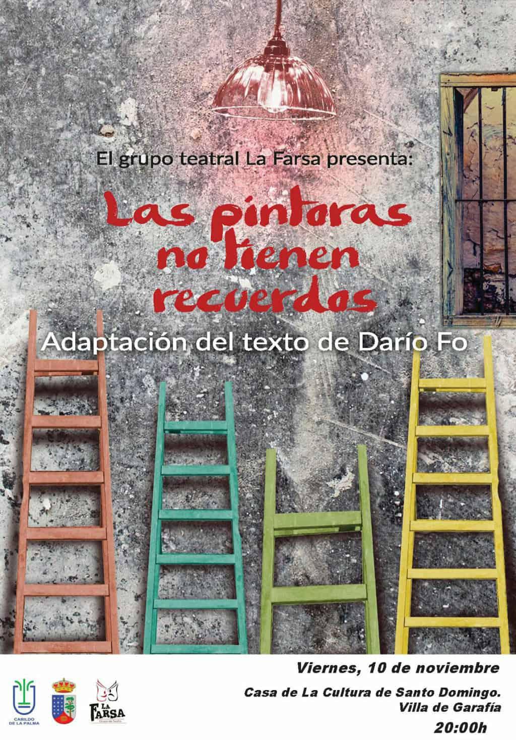 La Farsa Teatro presenta este viernes la obra 'Las pintoras no tienen recuerdos' en Villa de Garafía