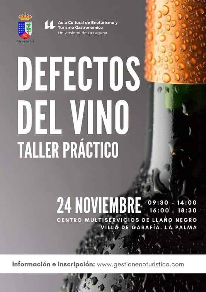 """Taller práctico """"Defectos del vino"""""""