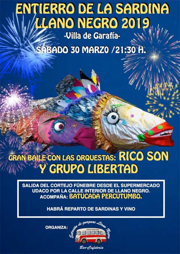 Garafía celebra este sábado el Entierro de La Sardina de Llano Negro
