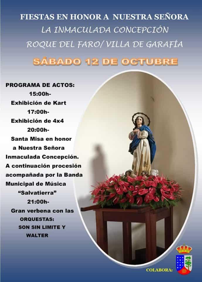 Fiestas en Honor Ntra. Sra. La Inmaculada Concepción
