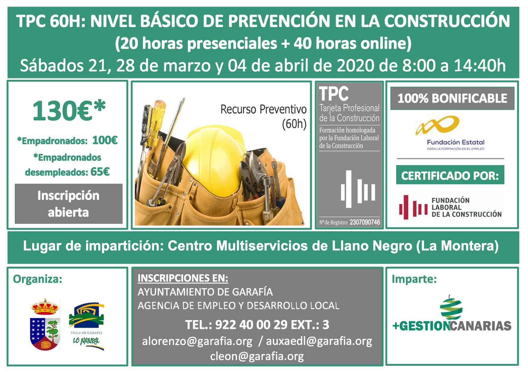 TPC 60 h: Nivel básico de prevención en la construcción