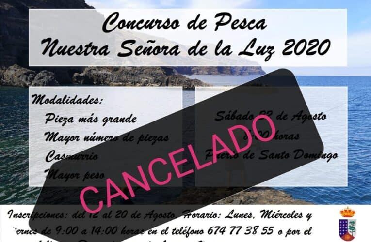 CANCELADO Concurso de Pesca Nuestra Señora de La Luz 2020