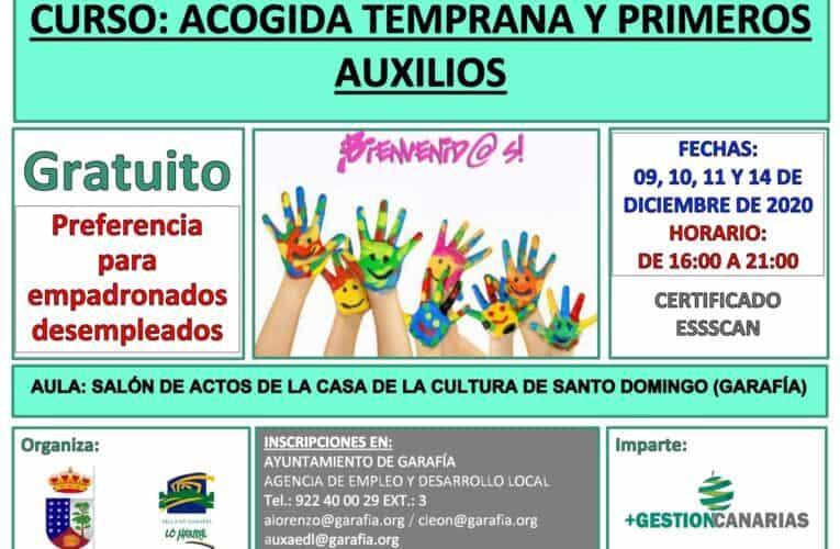 Curso gratuito de Acogida Temprana y Primeros Auxilios