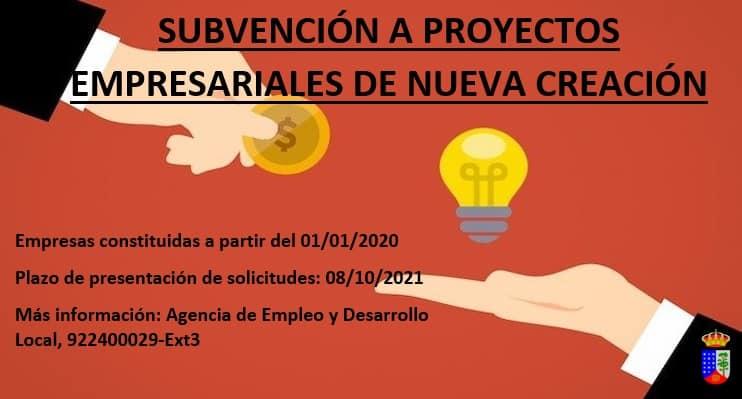 Ayudas para proyectos empresariales de reciente creación en el municipio de la Villa de Garafía